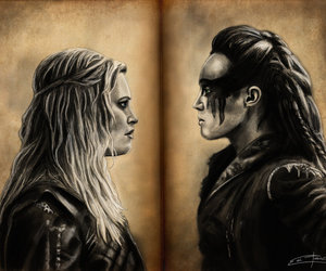 drawing, the 100, and tv series image