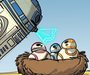 r2d2, star wars, and bb-8 image