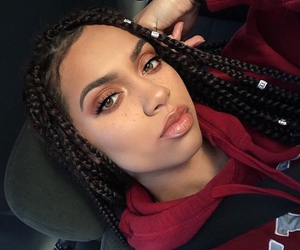 girl, braids, and makeup image