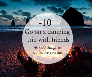 friends, camping, and beach image