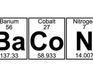 bacon, chemistry, and funny image