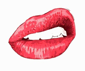 lips, kiss, and red image