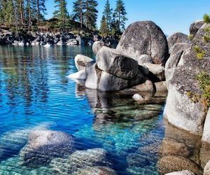 water, nature, and rocks image