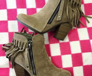 boots, fall fashion, and fringe boots image