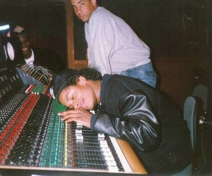 Eazy E, NWA, and studio image