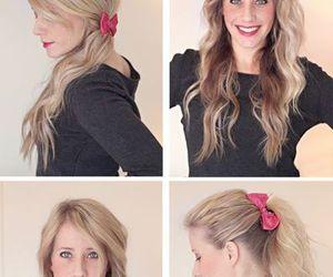 hair, hair style, and women hair image