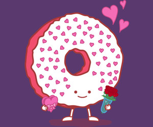 chocolate, donut, and love image