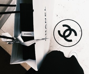 chanel, dark, and shopping image