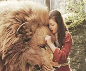 lion, narnia, and lucy pevensie image