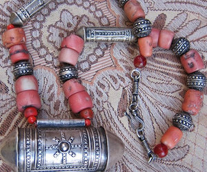 etsy, silver necklace, and bellydance jewelry image