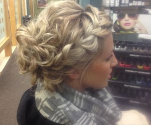 braid, hairstyle, and updo image