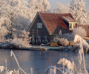 house, winter, and beautiful image