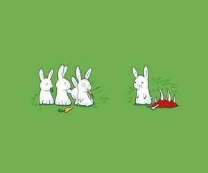 lol, minimalism, and rabbit image