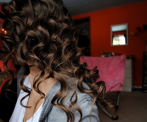 beautiful, brunette, and curl image