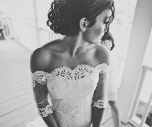 black and white, bride, and Dream image