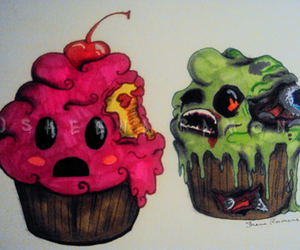 cup cake zombie image