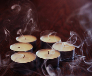 candle, smoke, and fire image