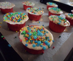 cake, colors, and cupcake image