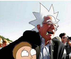 bernie sanders, rick and morty, and feelthebern image