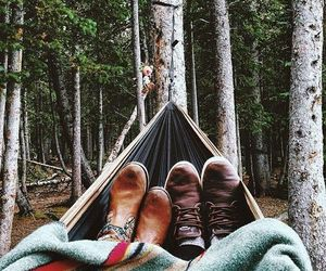 couple, nature, and forest image