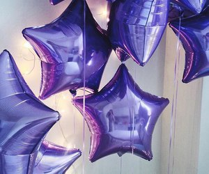 purple, balloons, and stars image