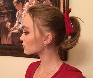 lily rose depp, model, and red image