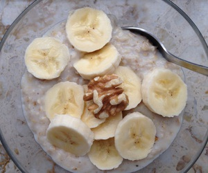 banana, breakfast, and healthy image