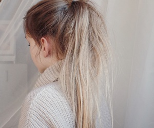 blonde, cozy, and hair image