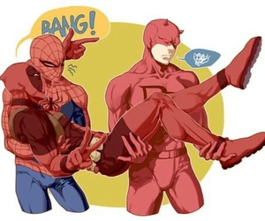 daredevil, deadpool, and spiderman image