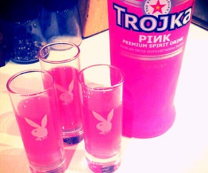 drink, pink, and vodka image