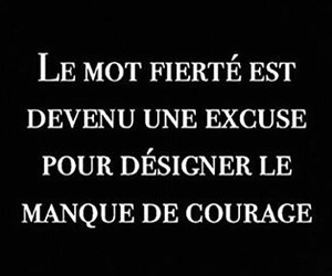 courage, french, and citation image