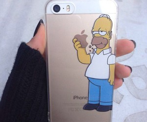 iphone, simpsons, and apple image