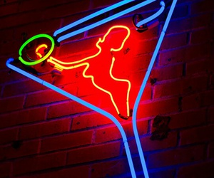 neon, glow, and light image