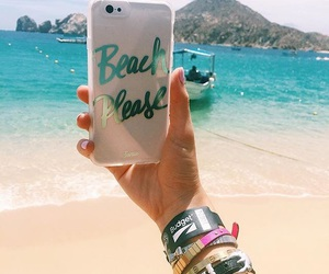 beach and iphone image