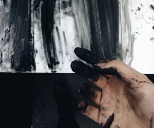 black, art, and hand image