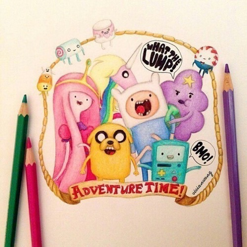 adventure time, drawing, and art image