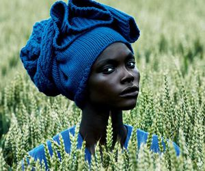 woman, blue, and beauty image