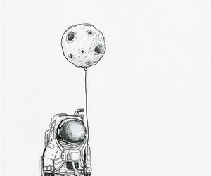 moon, astronaut, and space image