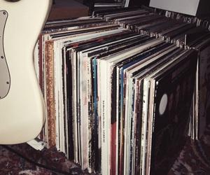 album, guitar, and vinyl image