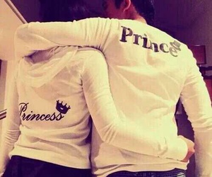 love, princess, and prince image