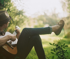guitar, boy, and guy image