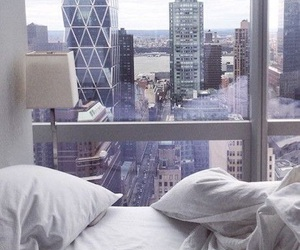 bed, city, and tumblr image