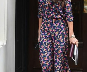 floral dress, street style, and victoria beckham image