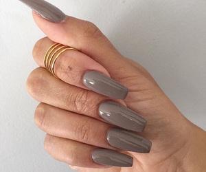 amazing, grey, and long nails image