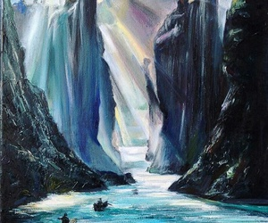 art, the lord of the rings, and books image
