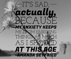 anxiety, easel, and quotes image