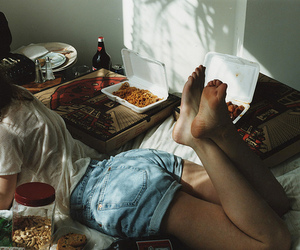 girl, food, and vintage image