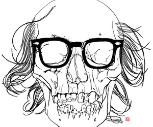 death, glasses, and hair image