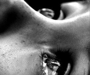 eyes, tears, and sad image