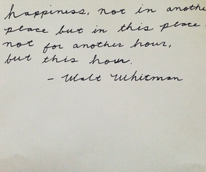 quotes, happiness, and walt whitman image